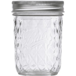 12 x Quilted 8oz Half Pint Jars and Lids Ball Mason