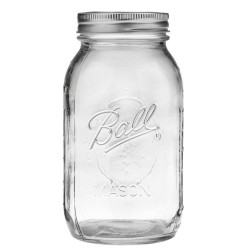 12 x Quart 32 oz Regular Mouth Jars and Lids Ball Mason OUT OF STOCK NO ETA