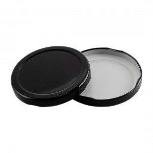 70mm TWIST TOP lids BLACK EACH