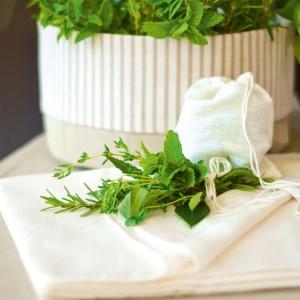 10 x Bouquet Garni Unbleached Cotton Spice Sacks