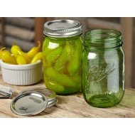 1 x Heritage Green Pint 16oz Regular Mouth Jar  - Single