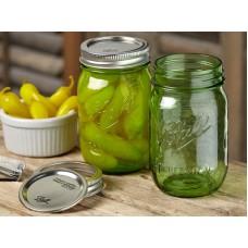 1 x Heritage Green Pint 16oz Regular Mouth Jar  - Single