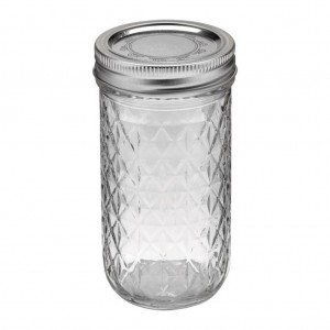 1 x Quilted 12oz Jar and Lid Ball Mason - Single