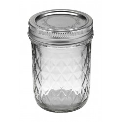 1 x Quilted Half Pint 8oz Jar and Lid Ball Mason - Single