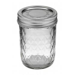 1 x Quilted Half Pint 8oz Jar and Lid Ball Mason - Single
