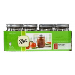 12 x Pint 16 oz Regular Mouth Jars and Lids Ball Mason