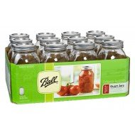 12 x Quart 32 oz Regular Mouth Jars and Lids Ball Mason