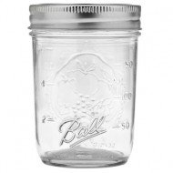 6 x Half Pint 8 oz Regular Mouth Jars and Lids Ball Mason