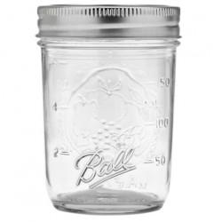 6 x Half Pint 8 oz Regular Mouth Jars and Lids Ball Mason
