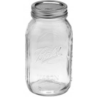 6 x Quart 32 oz Regular Mouth Jars and Lids Ball Mason
