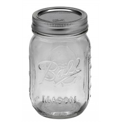 6x Pint (440ml) Regular Mouth Jars Lids