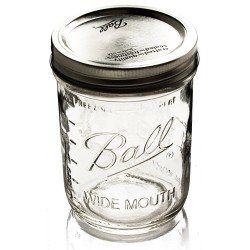 1 x Pint 16oz Wide Mouth Jar and Lid Ball Mason - Single