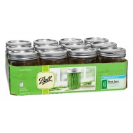 12 x Pint 16 oz Wide Mouth Jars and Lids Ball Mason  OUT OF STOCK NO ETA