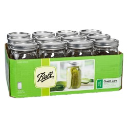 12 x Quart 32 oz Wide Mouth  Jars and Lids Ball Mason