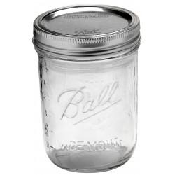 6 x  Pint 16 oz Wide Mouth Jars and Lids Ball Mason