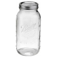 1 x Half Gallon 64oz Wide Mouth Jar Ball Mason - Single