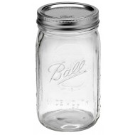 6 x Quart 32 oz Wide Mouth Jars and Lids Ball Mason