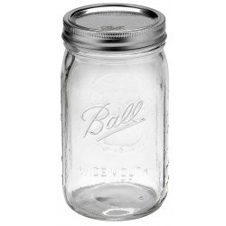 1 x Quart 32oz Wide Mouth Jar and Lid Ball Mason - Single