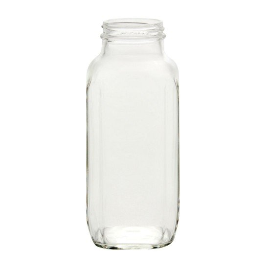 1 x Pint 16 oz Dairy French Square Bottle Bell Mason - Single Jar only (no lid) (FS16-88C48)