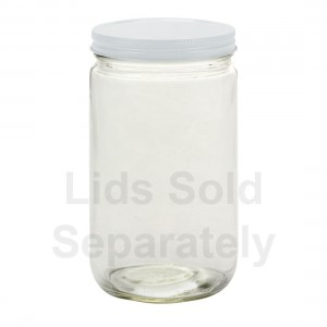 12 x Bell Mason 32 oz Quart Smooth Extra Wide Mouth Jars - Lids Not Included