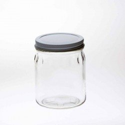 12 x Bell Mason 700ml 24 oz Thumbprint Jars with 89mm lids