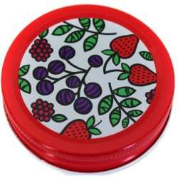 6 x Orchard Road Fruit Decorative Canning Lid