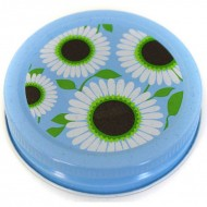 6 x Orchard Road Wild Daisy Decorative Canning Cap - Regular Mouth