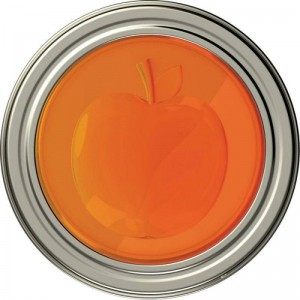 Apricot Fruit Jam Lids Suits Regular Mouth Ball Mason Jar. Set of 4
