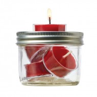 Tealight Candle Topper Attachment Suits Regular Mouth Ball Mason Jar