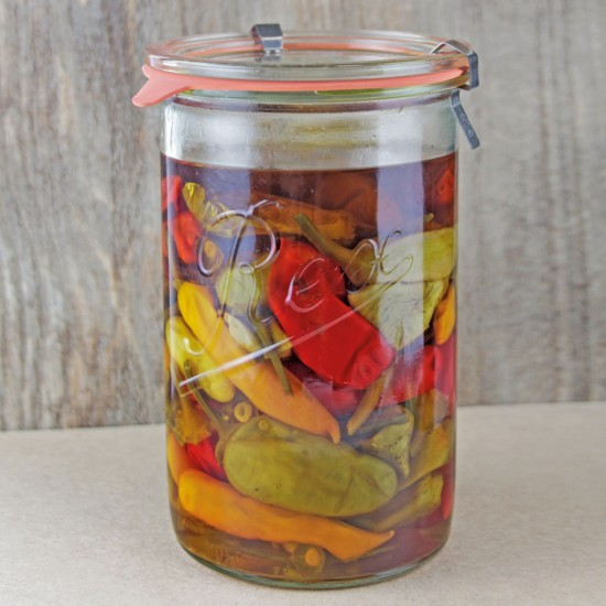 6 x 1,050ml Rex Tapered Jar