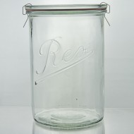 6 x 1,050ml Rex Tapered Jar