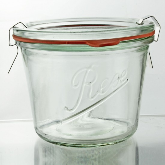 6 x 370ml Rex Tapered Jar
