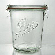 6 x 580ml Rex Tapered Jar