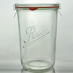 6 x 850ml Rex Tapered Jar