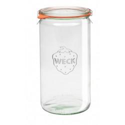 1 x 1.5 Litre 1590ml Cylinder Jar Weck Complete