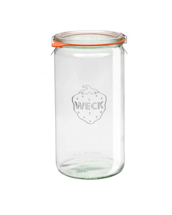 1 x 1.5 Litre 1590ml Cylinder Jar Weck Complete (974)