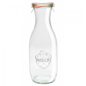 1 x 1 litre Weck Juice Carafe Wine Jar Complete