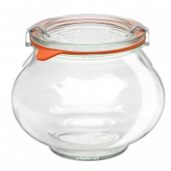 1 x 500ml Weck Deco Shape Canning Jar Complete