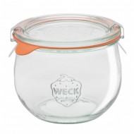 1 x 580ml Weck Tulip Canning Jar Complete