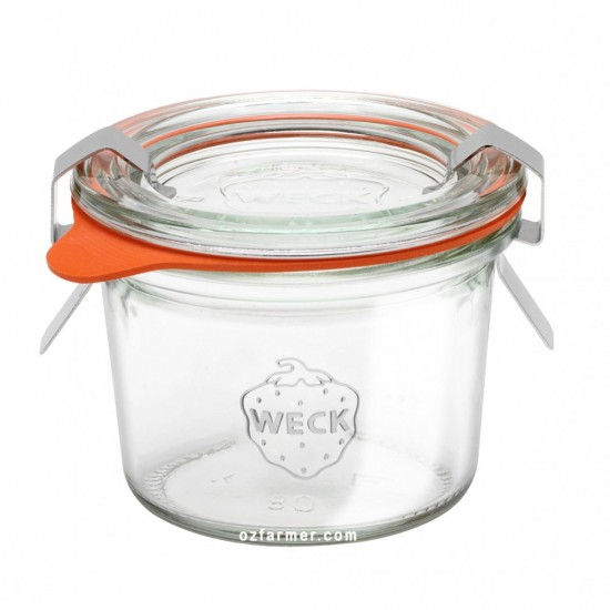 1 x 80ml Weck Mini Tapered Canning Jar Complete - 080 (080)