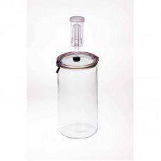 Fermenting Jar With Fermenting Lid BPA Free 1.5 Litre Weck  Rex Cylinder (1.5 litre fermenting jar)