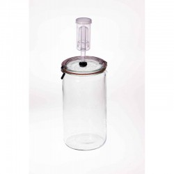 Fermenting Jar With Fermenting Lid BPA Free 1.5 Litre Weck Cylinder