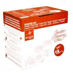 16 Piece Bormioli Rocco Quattro Stagioni Preserving Canning Starter Kit