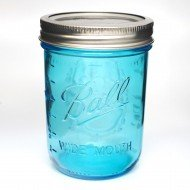 4 x Ball Collection Elite Blue Jars - Wide Mouth Pint.