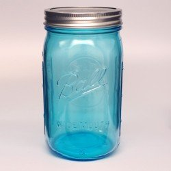 4 x Ball Collection Elite Blue Jars - Wide Mouth Quart / 32oz