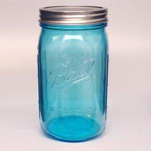 4 x Ball Collection Elite Blue Jars - Wide Mouth Quart / 32oz
