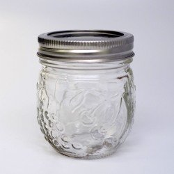 4 x Ball Collection Elite Round Jam Jars - Regular Mouth Half Pint / 8oz
