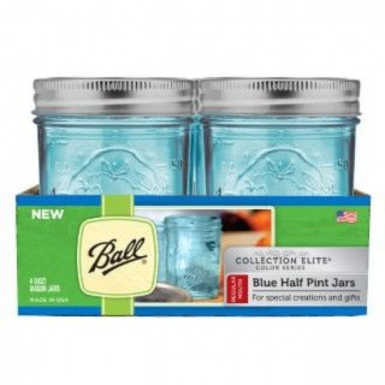 Half pint blue jars
