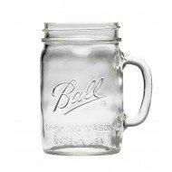 Handle Drinking Pint Jar Ball Mason Regular Mouth Made in the USA