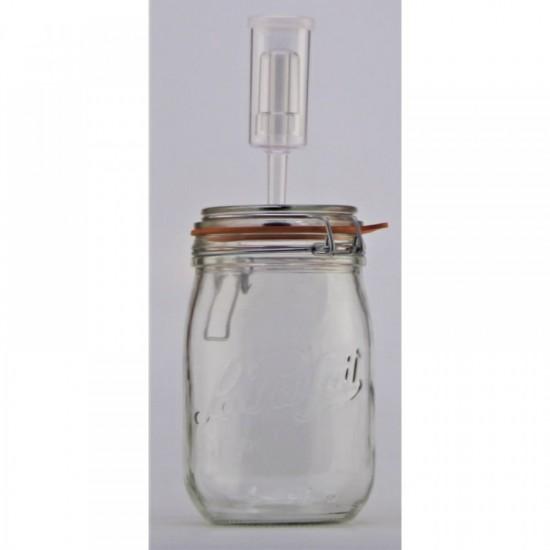 1 Litre Le Parfait Fermenting Jar With Fermenting Lid (1 litre fermenting jar)